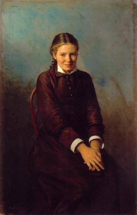Курсистка. Картина Николая Ярошенко.