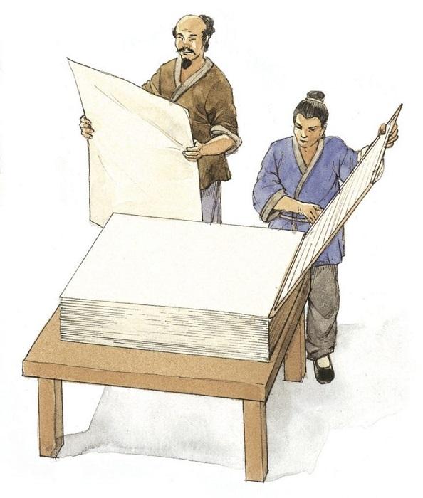 В древнем Китае бумагу использовали и производили массово.