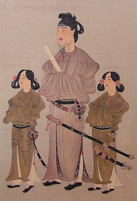 Мальчики с косичками - это японские принцы, и папа их тоже принц.