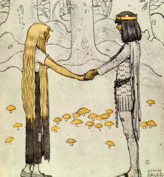 Йон Бауэр. Иллюстрация к сказке «Принц без тени».