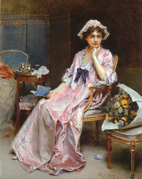 Капот могли надевать поверх белья или накидывать на домашнее платье.