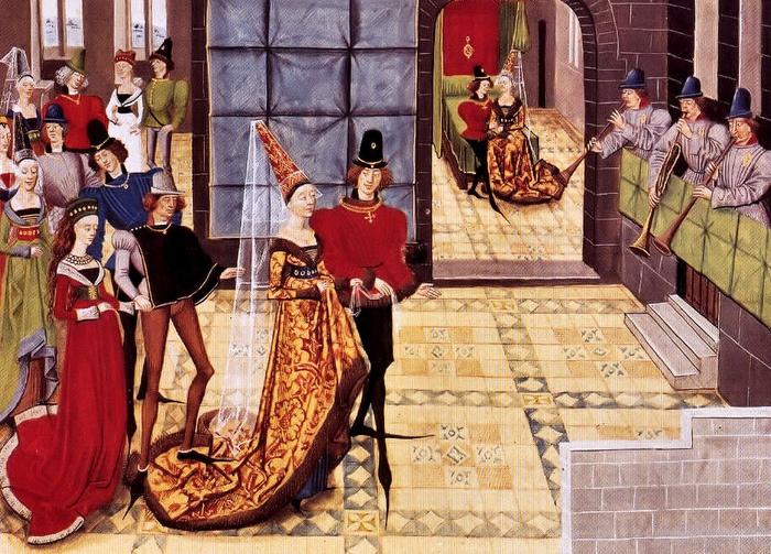 У средневековых христиан брак из союза влюблённых снова превратился в союз двух семей. Хотя бывали счастливые исключения.