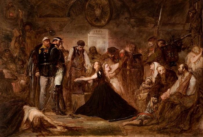 Закованная Польша. Аллегорическая картина Яна Матейко.
