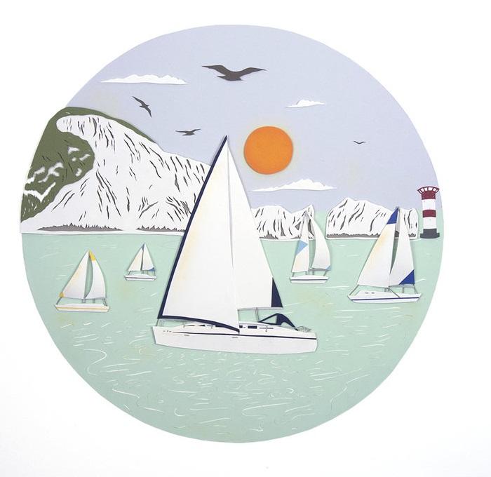 Английская художница не могла бы пройти мимо морского пейзажа.