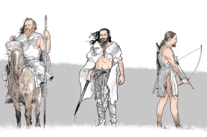 Реконструкция облика проигравших воинов.