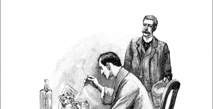 По сюжету, Холмс занимался самостоятельными научными изысканиями прикладного характера.