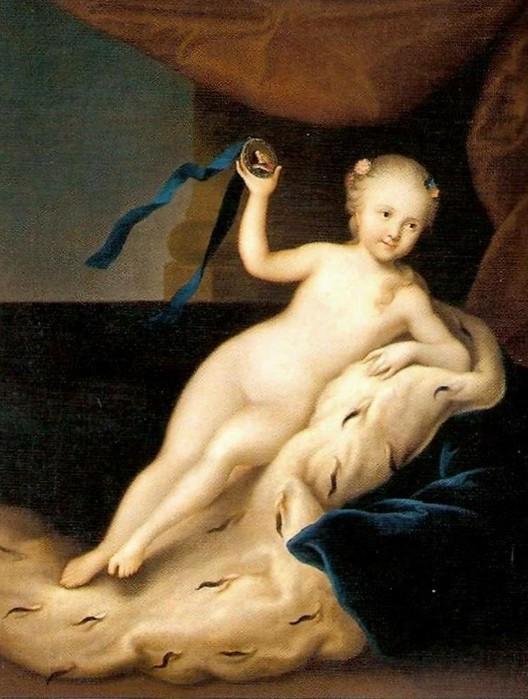 Портрет дочери, заказанный Петром Луи Караваку.