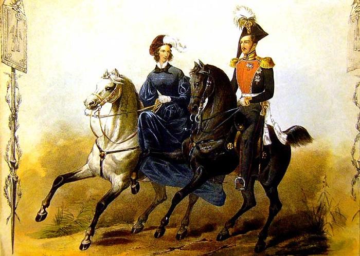Николай Павлович с супругой.