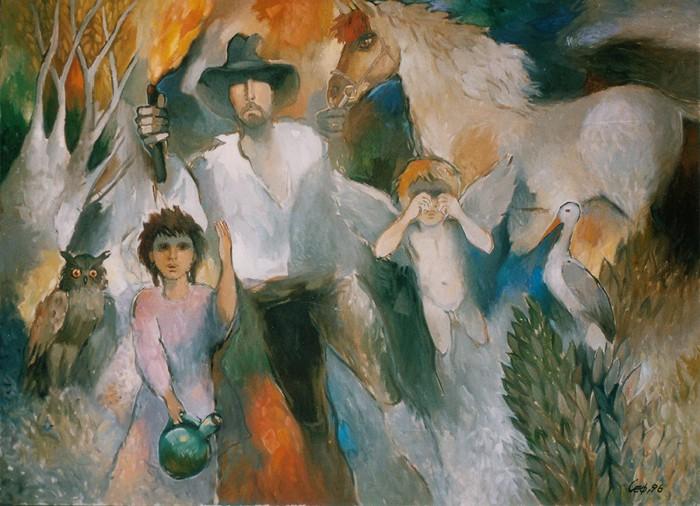 Цыганская семья глазами Сули Сеферова.