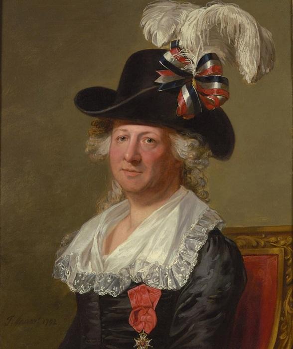 Портрет мадмуазель де Бомон в старости от Томаса Стюарта.