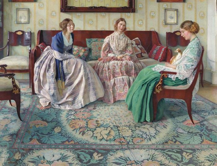 Домашние платья были самыми простыми по крою и неяркими по цветам.