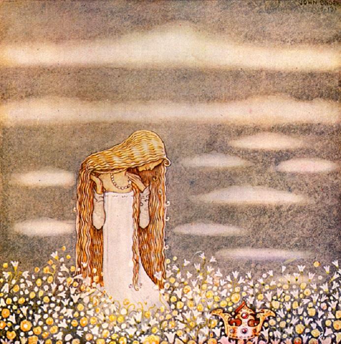 Йон Бауэр. Принцесса Тувстарр на цветущем поле.
