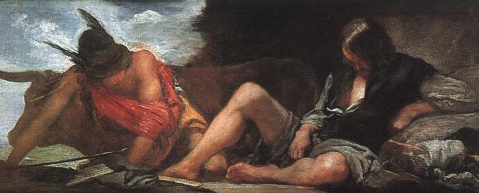 Гермес со своей очередной жертвой на картине Диего Веласкеса.