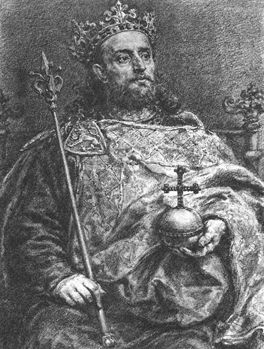 Вацлав Чешский глазами Яна Матейко.