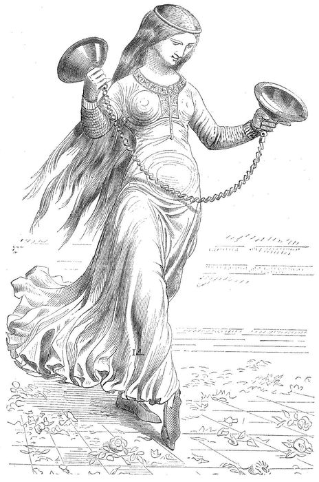 Танцовщица, играющая на цембелах.