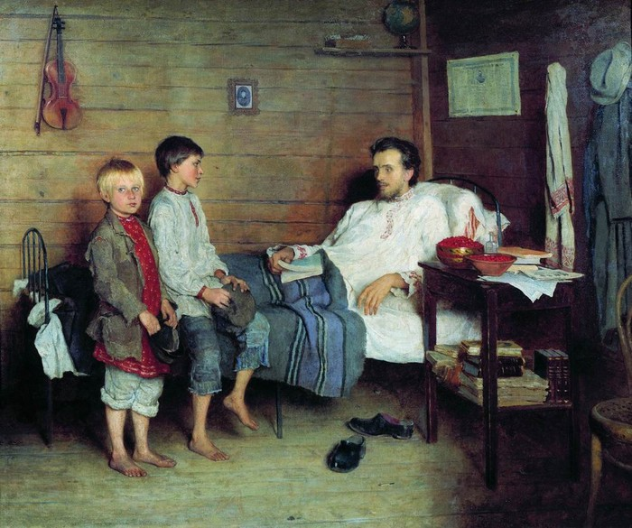 Картина Николая Богданова-Бельского.