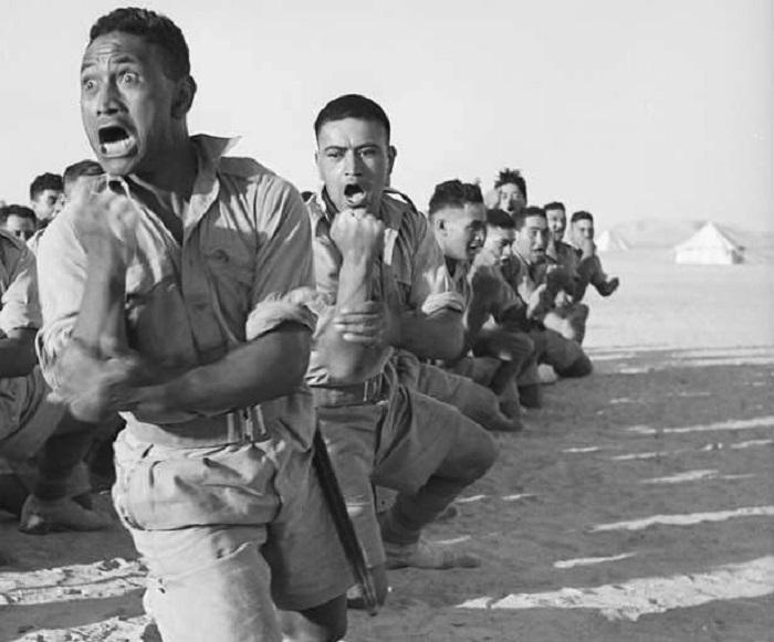 Батальон маори в Египте, 1941 год.