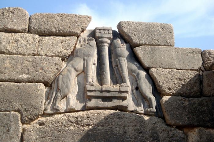 «Львиные ворота» в микенской крепости