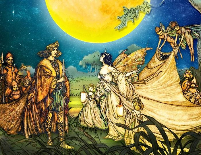 У самого Шекспира есть персонаж в пьесе *Сон в летнюю ночь*, чей гендер принципиально неопределён. Это Горчичное зерно.