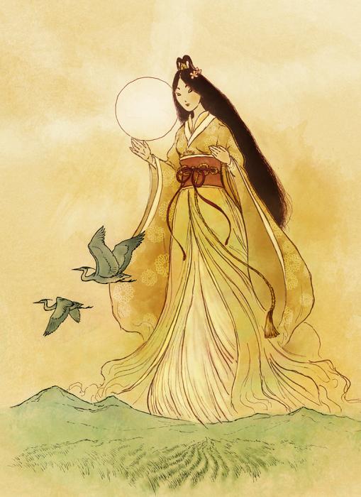 Чтобы спасти солнце для мира, понадобился стриптиз. Но на иллюстрацию всё же лучше поставить саму Аматэрасу.
