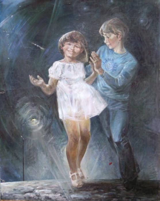Дети, танцующие ламбаду, от художника Александра Емельянова.