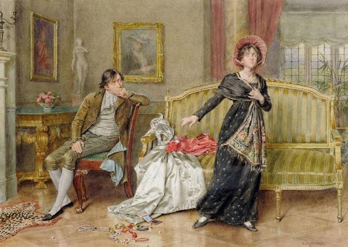 3 эпичных королевских развода: скандалы Европы прошлых веков. Картина Джорджа Килбурна.