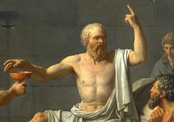 Картина Жака Луи Давида. Фрагмент.