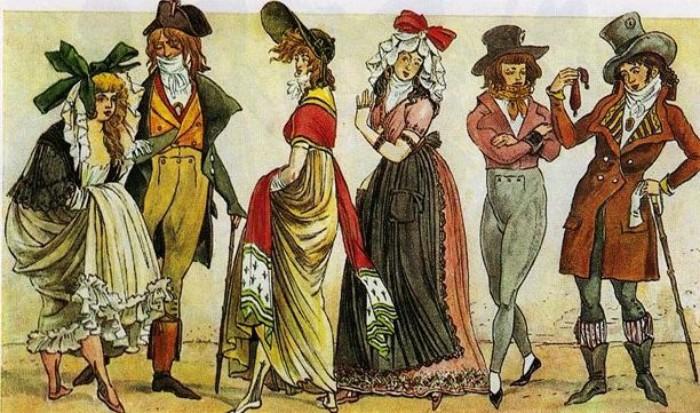 Даже с прикрытым задом модницы вызывали шок моралистов - манера носить платье подразумевала демонстрацию лодыжек