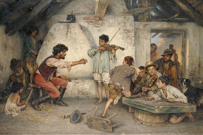 Цыгане приняли христианство раньше славян, так что памяти об индийских богах к девятнадцатому веку у них не сохранилось.