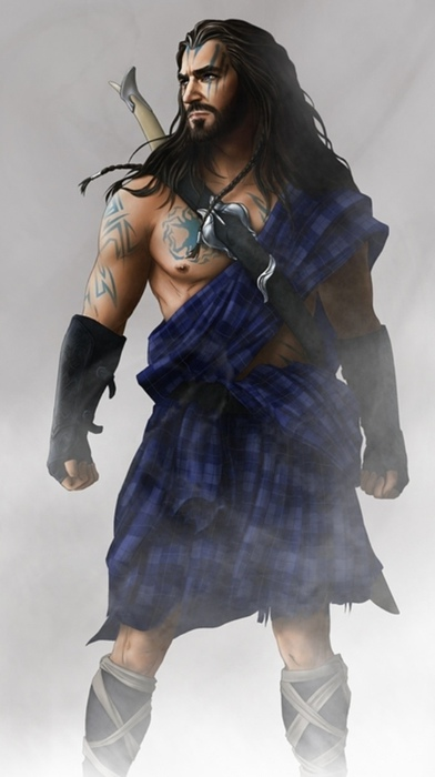 Гномы из фильма «Хоббит» напоминать викингов. Кто-то нарисовал Торина в килте.