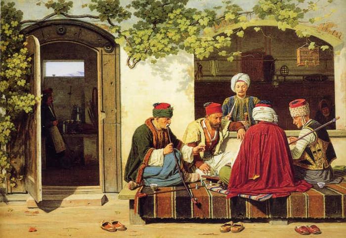 Феску турки не знали до завоевания Византии. Картина Мартинуса Рёрби.