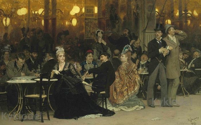Самая дорогая картина Репина — «Парижское кафе».