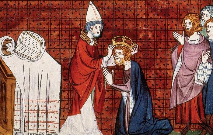 Германских императоров по традиции короновали Папы Римские.