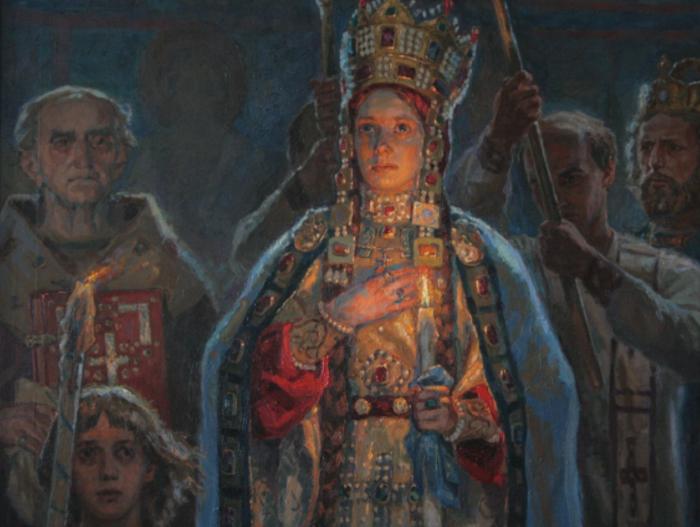 Венчание Анны Ярославны глазами нашего современника Ильи Томилова.