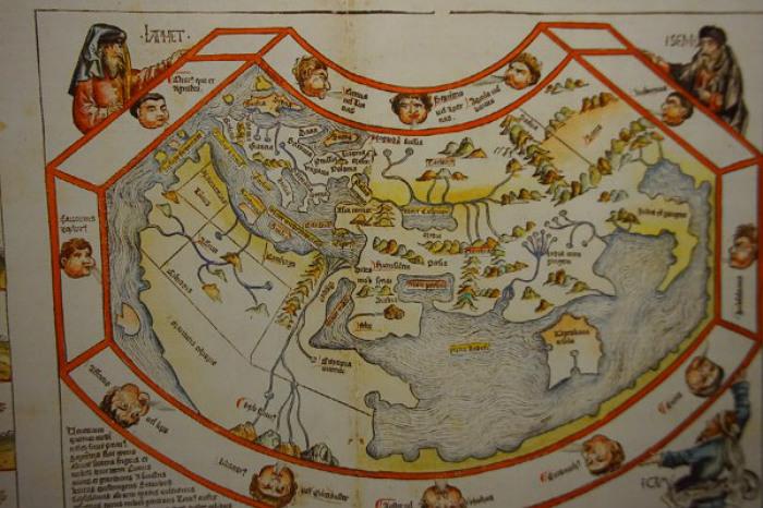 Карта мира колумбовых времён