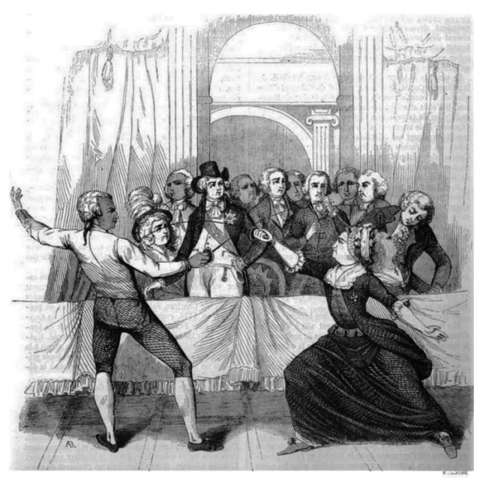 Фехтующая мадмуазель де Бомон.