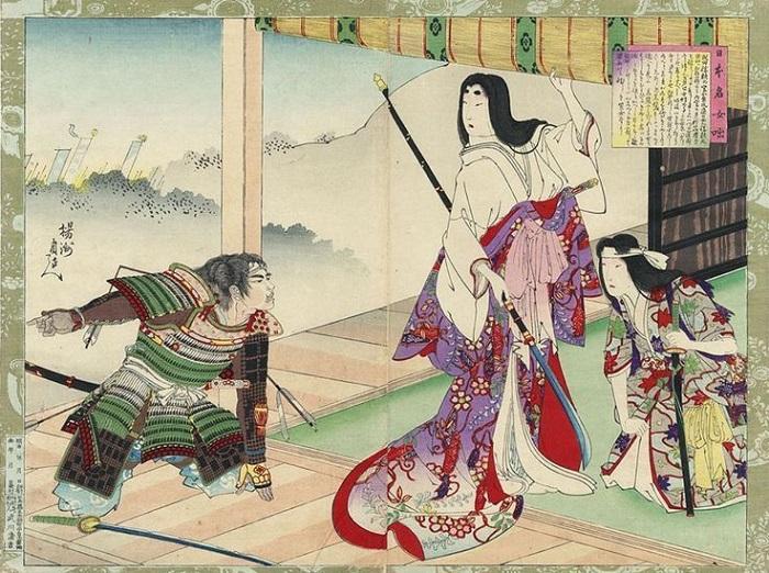 Рисунок Тойохара Чиканобу.