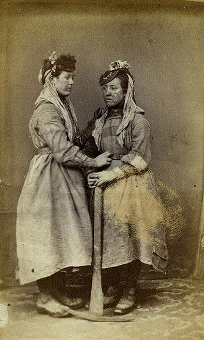 Женщины-шахтёрки из Уэльса.