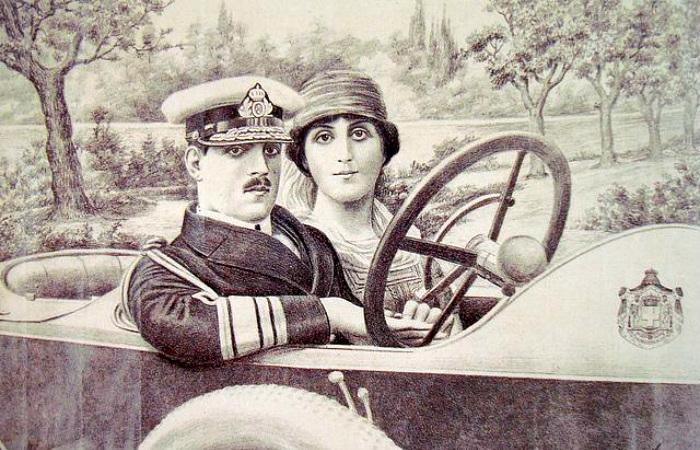 Греческий король с супругой