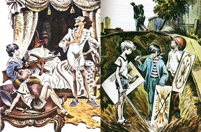Иллюстрации Евгения Медведева к повести Владислава Крапивина.