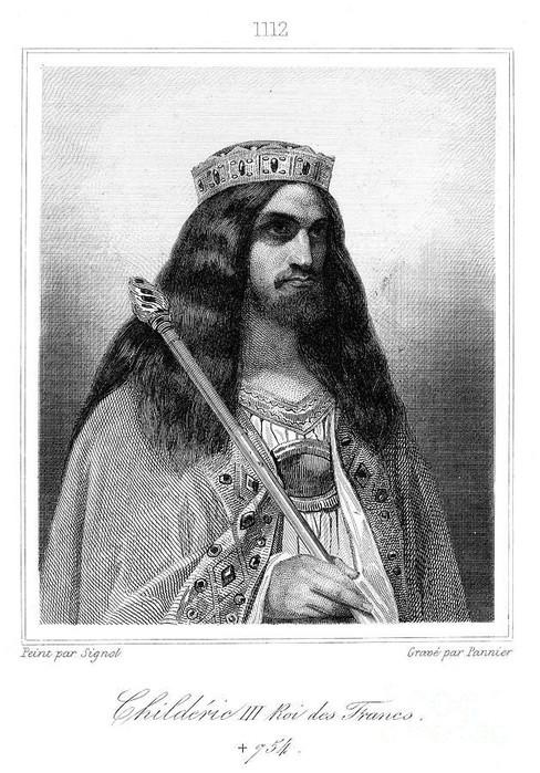 Сам король Хильдерик, по представлениям XIX века.
