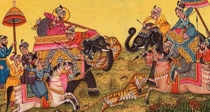 Индийская картина эпохи Великих Моголов.