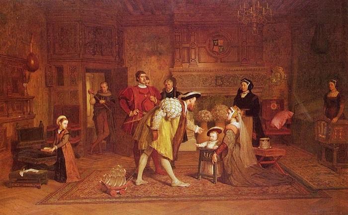 Эдуард с отцом и сёстрами на картине Маркуса Стоуна.