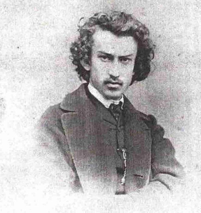 Николай Миклухо в студенчестве.