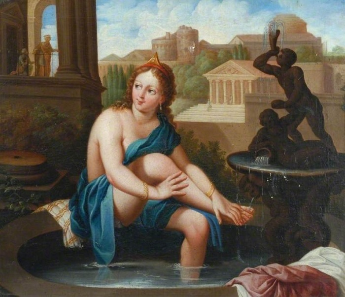 Найти не слишком откровенное изображение Вирсавии тоже нелегко. Картина неизвестного художника.