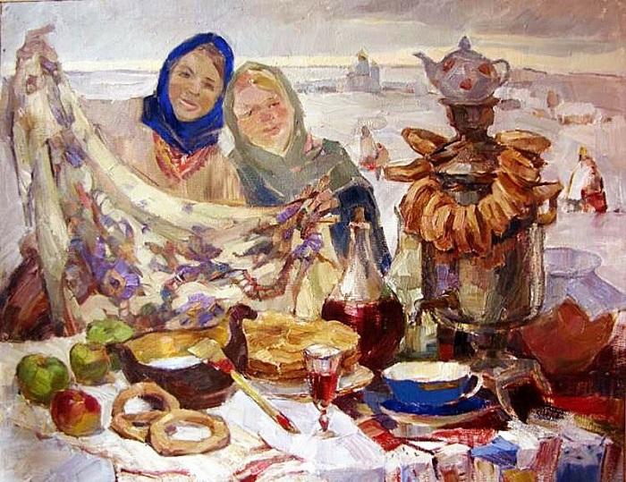 Масленица на картине Галины Егоровой.