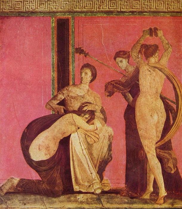 Одна из фресок с Виллы мистерий.