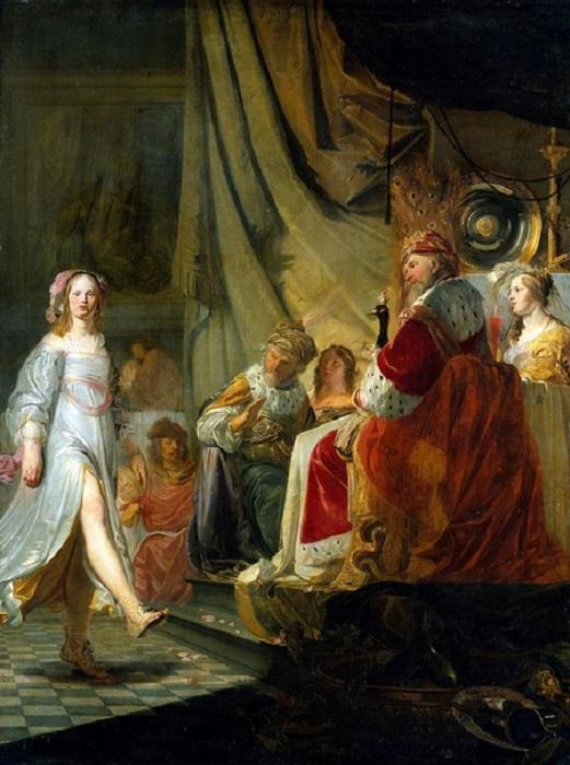 Одна из самых одетых версий тануцющей Саломеи от художника Якова Хогерса.