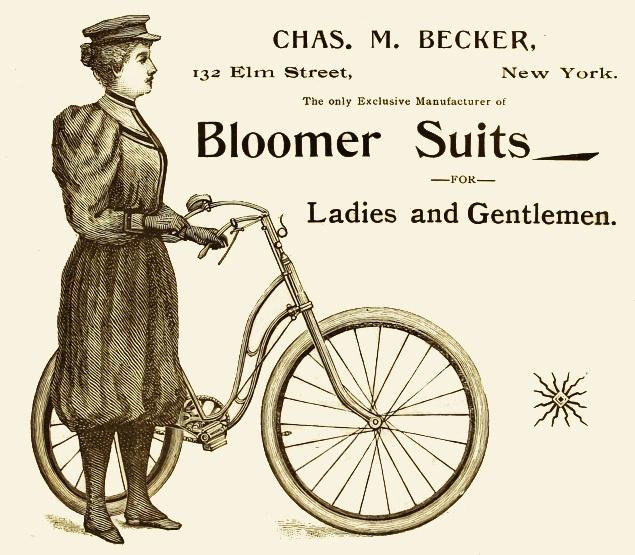 Реклама производителя блумеров для... Леди и джентльменов. Они стали спортивной одеждой унисекс.