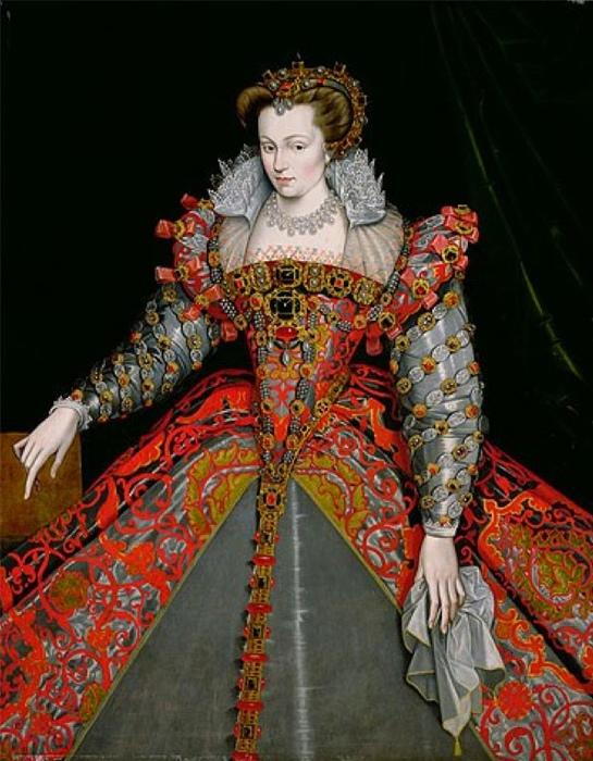 Портрет одной из французских дам от Жана Клуэ.